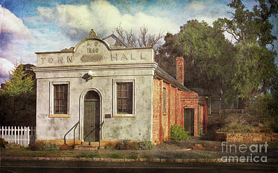 Photograph - Town Hall 1860 by Russell Brown