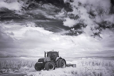 Dan Beauvais Royalty-Free and Rights-Managed Images - Tractor in a Corn Field 9795 by Dan Beauvais