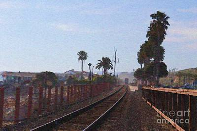 Spot Of Tea Royalty Free Images - Train has Departed Royalty-Free Image by Katherine Erickson