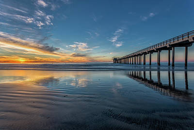 Personalized Name License Plates - Tranquility at the Scripps Pier by Peter Tellone