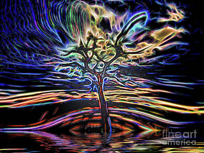 Digital Art - Tree Shapes 14 by Dave Harnetty