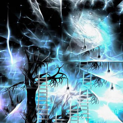 Surrealism Digital Art - Tree with lightbulbs by Bruce Rolff