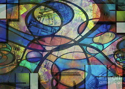 Chris Walter Rock N Roll - Trendy abstract art by Bruce Rolff