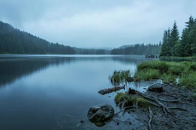 Fine Dining - Trillium Lake on a Foggy Morning by Belinda Greb