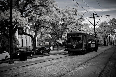 Abstract Water - trolley of New Orleans by Amy Ingram Curtis