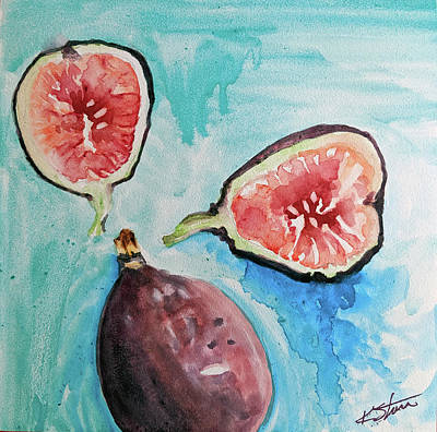 Painting - Tropical Fruit Series Figs by Kathy Sturr