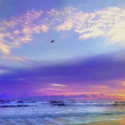 Marvelous Marble - Tropical Sunrise - New Smyrna Beach Florida by Joann Vitali