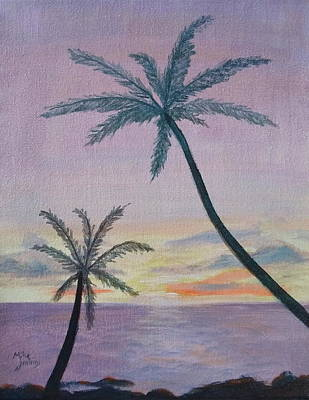 Painting - Tropical Sunset by Mike Jenkins
