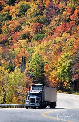 Dan Beauvais Royalty Free Images - Trucking Though Pinkham Notch 3709 Royalty-Free Image by Dan Beauvais