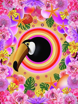 Animals Digital Art - Tucano 2.0 by Galaxy Epopteia