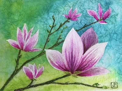 Painting - Tulip Tree Magnolia  by Jannett Prusik