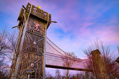 Royalty-Free and Rights-Managed Images - Tulsa Gathering Place Adventure Playground at Dusk by Gregory Ballos
