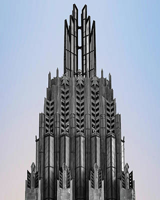 Royalty-Free and Rights-Managed Images - Tulsa Oklahoma and Boston Avenue United Methodist Art Deco Architecture by Gregory Ballos