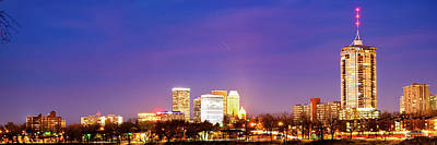 Royalty-Free and Rights-Managed Images - Tulsa Oklahoma University Tower and City Skyline Panorama by Gregory Ballos