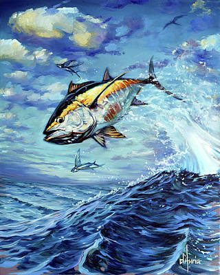 Sports Paintings - Tuppens Tuna by Tom Dauria