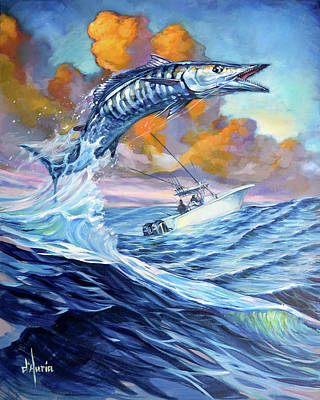 Sports Paintings - Tuppens Wahoo by Tom D