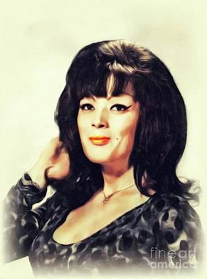 Painting - Tura Satana, Vintage Actress by John Springfield