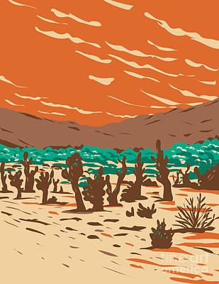 Caravaggio - Turkey Flats Sand Dunes Located in Joshua Tree National Park in California WPA Poster Art by Aloysius Patrimonio