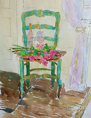 Painting - Turquoise Chair by Patsy Walton