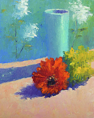 Painting - Turquoise Vase by Terry Chacon