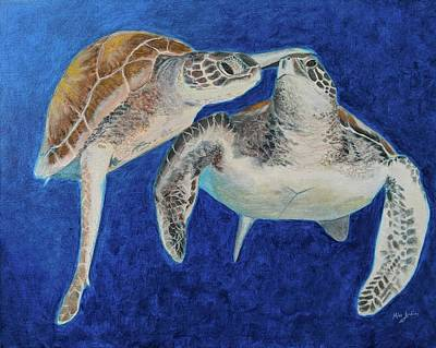 Painting - Turtle Honeymoon by Mike Jenkins