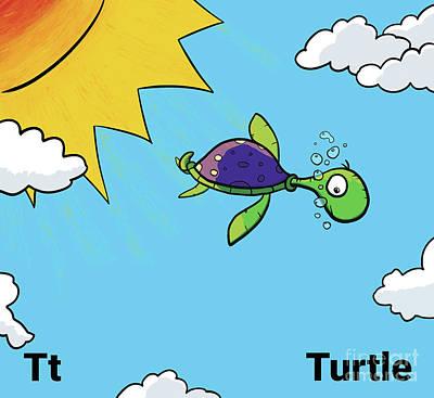 Drawing - Turtle Nursery Art by Mike Mooney
