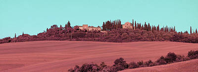 Surrealism Royalty-Free and Rights-Managed Images - Tuscany Landscape , Paesaggio Toscano Italy 1 - Surreal Art by Ahmet Asar by Celestial Images