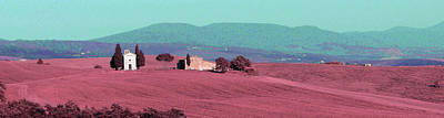 Surrealism Royalty-Free and Rights-Managed Images - Tuscany Landscape , Paesaggio Toscano Italy 3 - Surreal Art by Ahmet Asar by Celestial Images