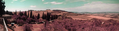 Surrealism Royalty-Free and Rights-Managed Images - Tuscany Landscape , Paesaggio Toscano Italy 5 - Surreal Art by Ahmet Asar by Celestial Images