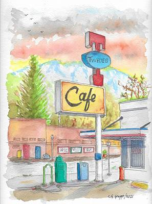 Abstract Oil Paintings Color Pattern And Texture - Twedes Cafe in North Bend, Washington by Carlos G Groppa