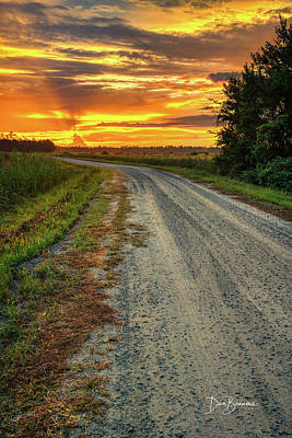 Dan Beauvais Royalty Free Images - Twiford Road Sunrise 3112 Royalty-Free Image by Dan Beauvais