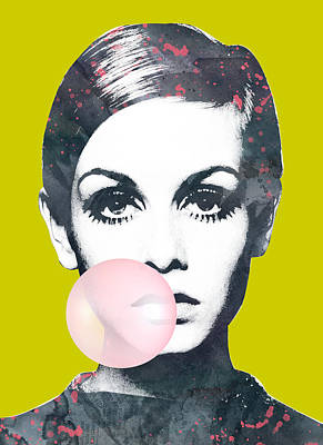 Pasta Al Dente - Twiggy with bubble gum by Mihaela Pater