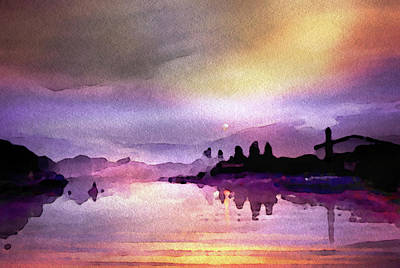 From The Kitchen - Twilight on the River by Susan Maxwell Schmidt