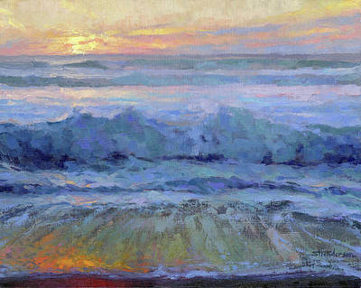 Royalty-Free and Rights-Managed Images - Twilight Surf by Steve Henderson