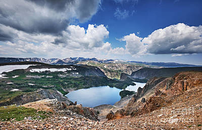 Spot Of Tea - Twin Lakes in Beartooth Mountains by Jo Ann Snover