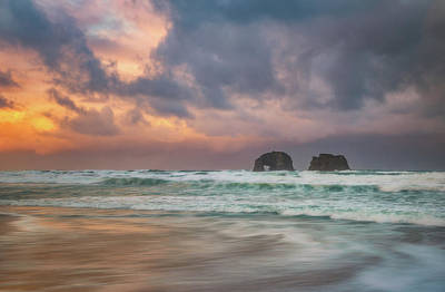 Royalty-Free and Rights-Managed Images - Twin Rocks Sunrise Storm by Darren White