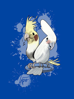 Royalty-Free and Rights-Managed Images - Two Birds by Canine Caricatures Custom Merchandise
