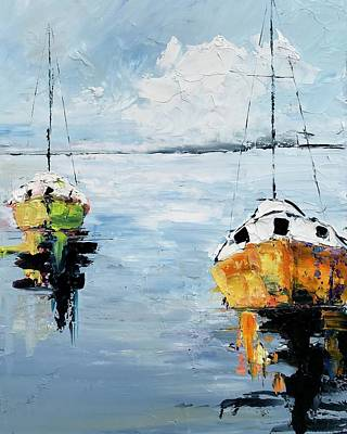 Painting - Two Boats by Julia S Powell