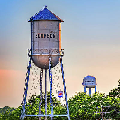 Royalty-Free and Rights-Managed Images - Two Bourbon Water Towers by Gregory Ballos