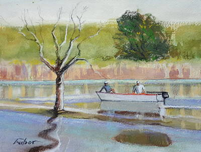 Painting - Two in a boat by Ron Wilson