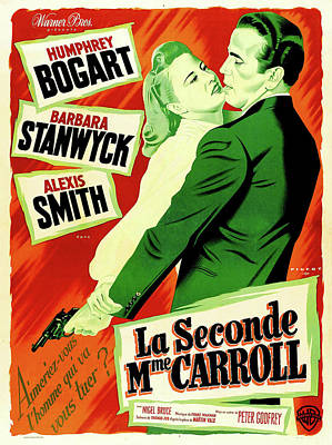 Mixed Media Royalty Free Images - Two Mrs. Carrolls movie poster Royalty-Free Image by Stars on Art