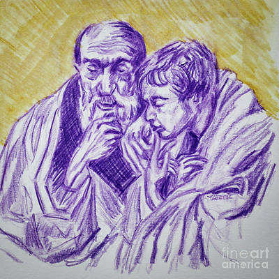 Drawings Royalty Free Images - Two of the Four Apostles Jordaens Royalty-Free Image by Robert Yaeger