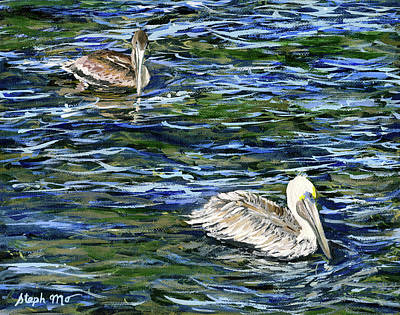 Painting - Two Pelicans by Steph Moraca
