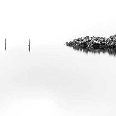 Photograph - Two Posts and Rocks by Tony Locke