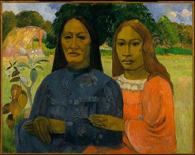 David Bowie Royalty Free Images - Two Women  Paul Gauguin Royalty-Free Image by Arpina Shop