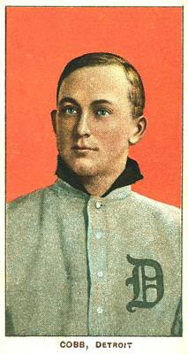 Animals Paintings - Ty Cobb Detroit Tigers 1910 by David Hinds