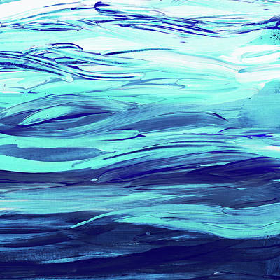 Royalty-Free and Rights-Managed Images - Ultramarine Blue And Turquoise Waves Of The Ocean  by Irina Sztukowski