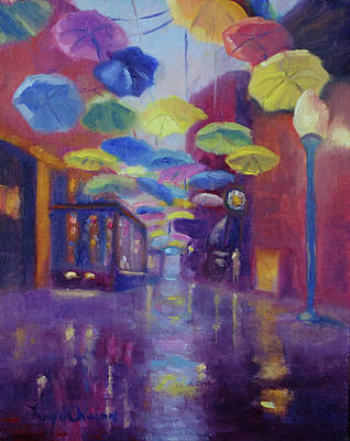Painting - Umbrella Alley Pandemic 2020 by Terry Chacon