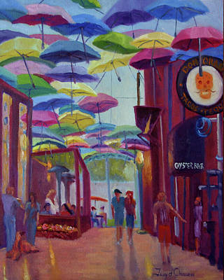 Painting - Umbrella Alley Sunny Day by Terry Chacon