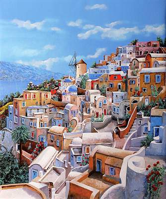 Royalty-Free and Rights-Managed Images - Un Mulino A Santorini by Guido Borelli
